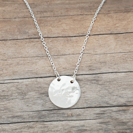 Disk Necklace by Glee Jewelry