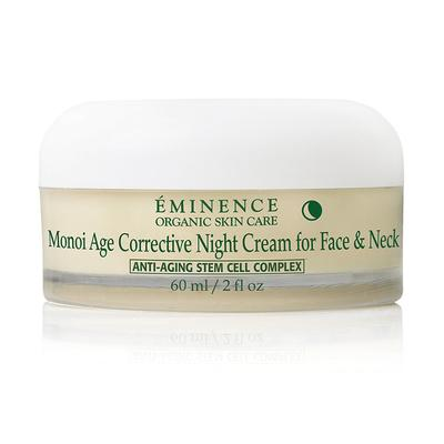 Eminence Organics Monoi Age Corrective Night Cream for Face & Neck 2oz