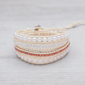 Spring Wedding Wrap Bracelet by Glee Jewelry