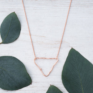 Summer Triangle Rose Gold Necklace by Glee Jewelry
