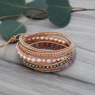 Carolina Wrap Bracelet by Glee Jewelry