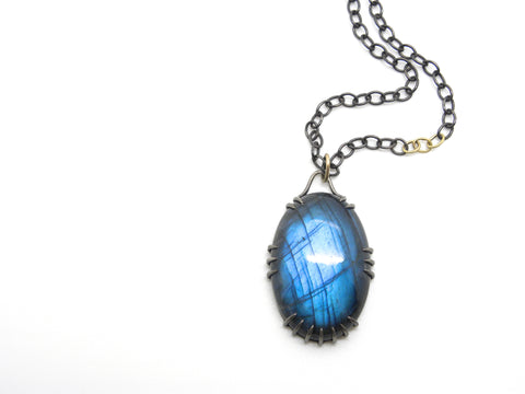 Celestial Labradorite Vanity Necklace | Hannah Blount Jewelry | Metaphysical Properties of Labradorite