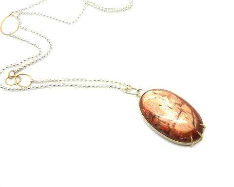 62.75ct Grand Sunstone Vanity Necklace by Hannah Blount Jewelry