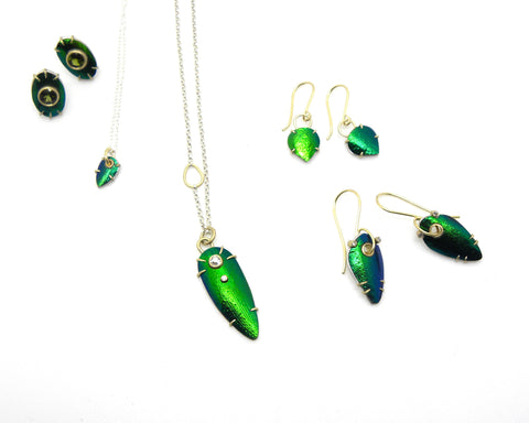 Beetle Wing Jewelry by Hannah Blount Jewelry