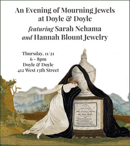 Hannah Blount Jewelry An Evening of Mourning Jewels at Doyle & Doyle Sarah Nehama Memento Mori Jewelry NYC Jewelry Shopping Event