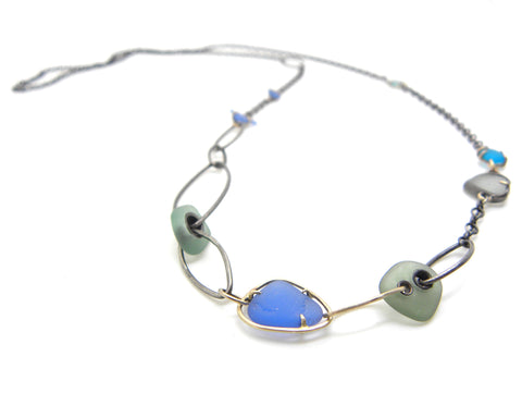 Custom Sea Glass Necklace by Hannah Blount Jewelry