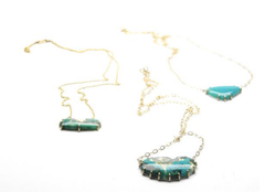 Chrysocolla Vanity Necklaces by Hannah Blount Jewelry