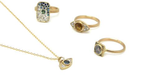The Milgrain Collection by Hannah Blount Jewelry | One-of-a-kind Handmade Diamond and Gemstone Milgrain Jewelry