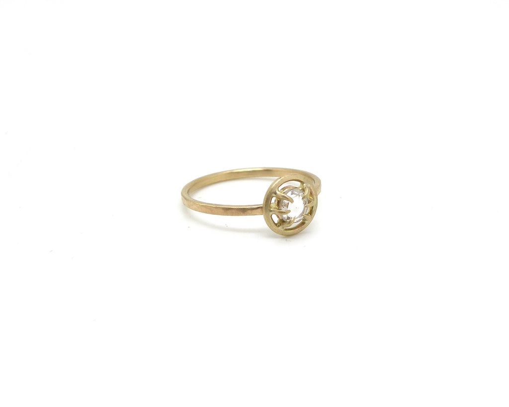Diamond Alençon Vanity Ring, 6.5-Hannah Blount Jewelry