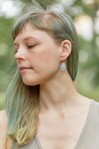 Powder Aquamarine Vanity Earrings-Hannah Blount Jewelry