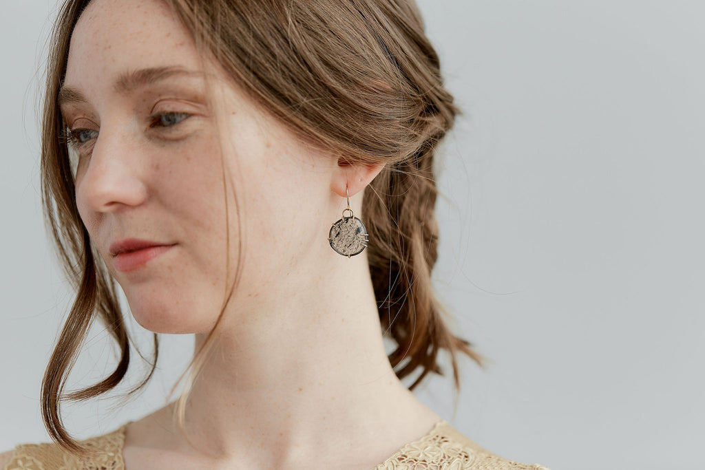 Chromatography Quartz Vanity Earrings-Hannah Blount Jewelry