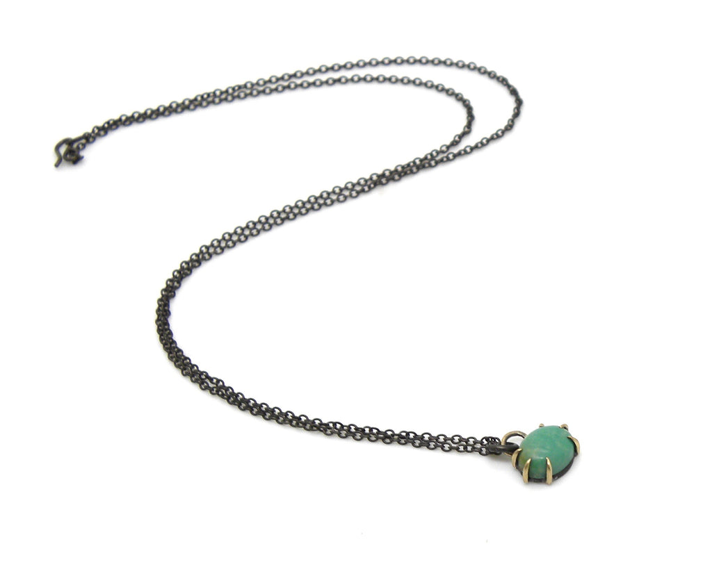 Roval Kingman Turquoise Vanity Necklace-Hannah Blount Jewelry