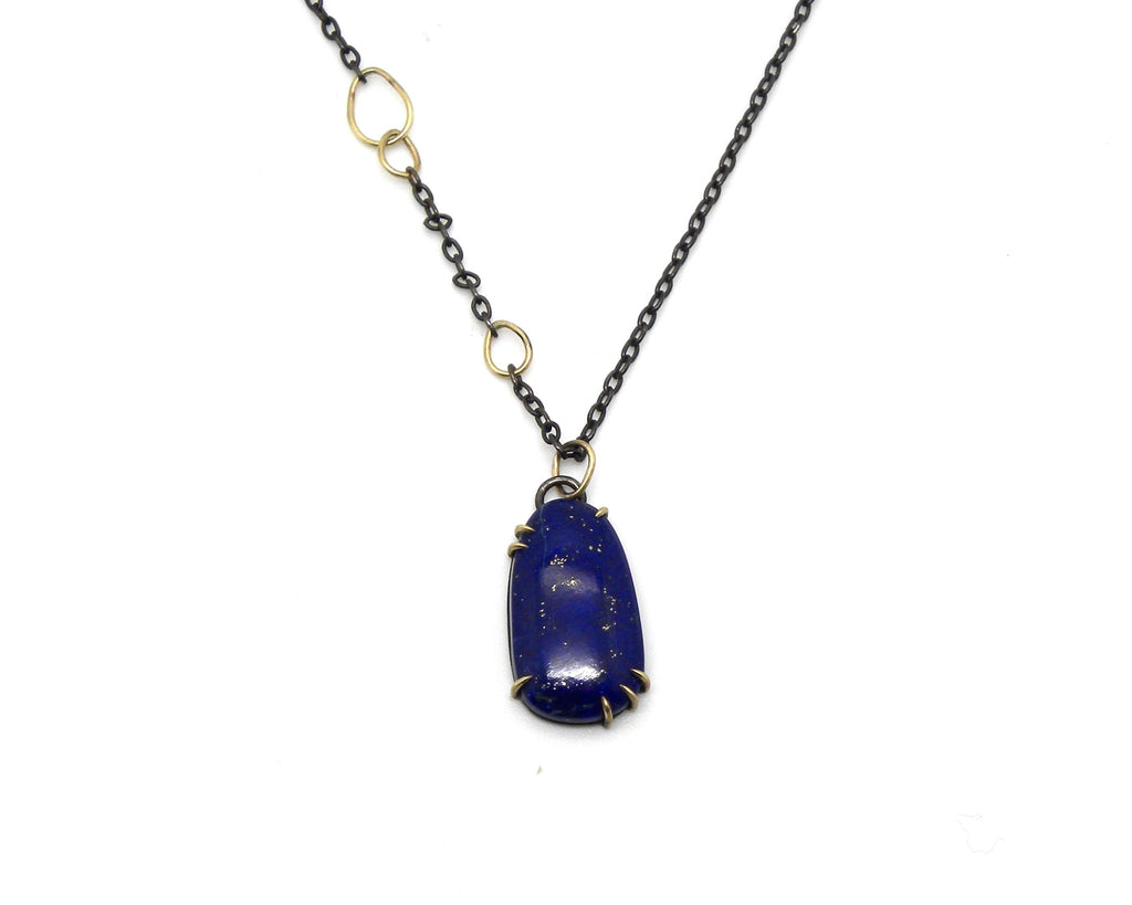 Royal Lapis Vanity Necklace - Hannah Blount Jewelry