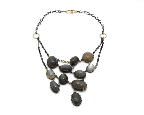 Moonstone Festoon Vanity Necklace-Hannah Blount Jewelry