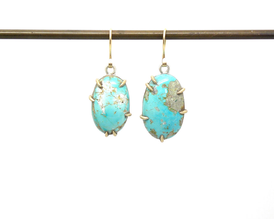 Mismatched Persian Turquoise Vanity Earrings-Hannah Blount Jewelry