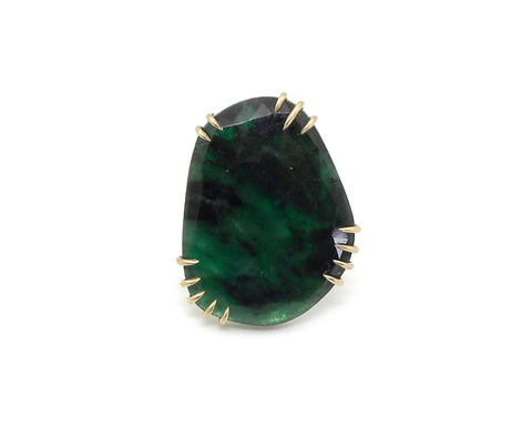 Grand Emerald Vanity Ring, 7-Hannah Blount Jewelry