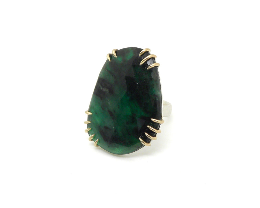 Grand Emerald Vanity Ring-Hannah Blount Jewelry