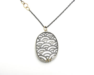 Wave Pierced Quartz Vanity Necklace-Hannah Blount Jewelry
