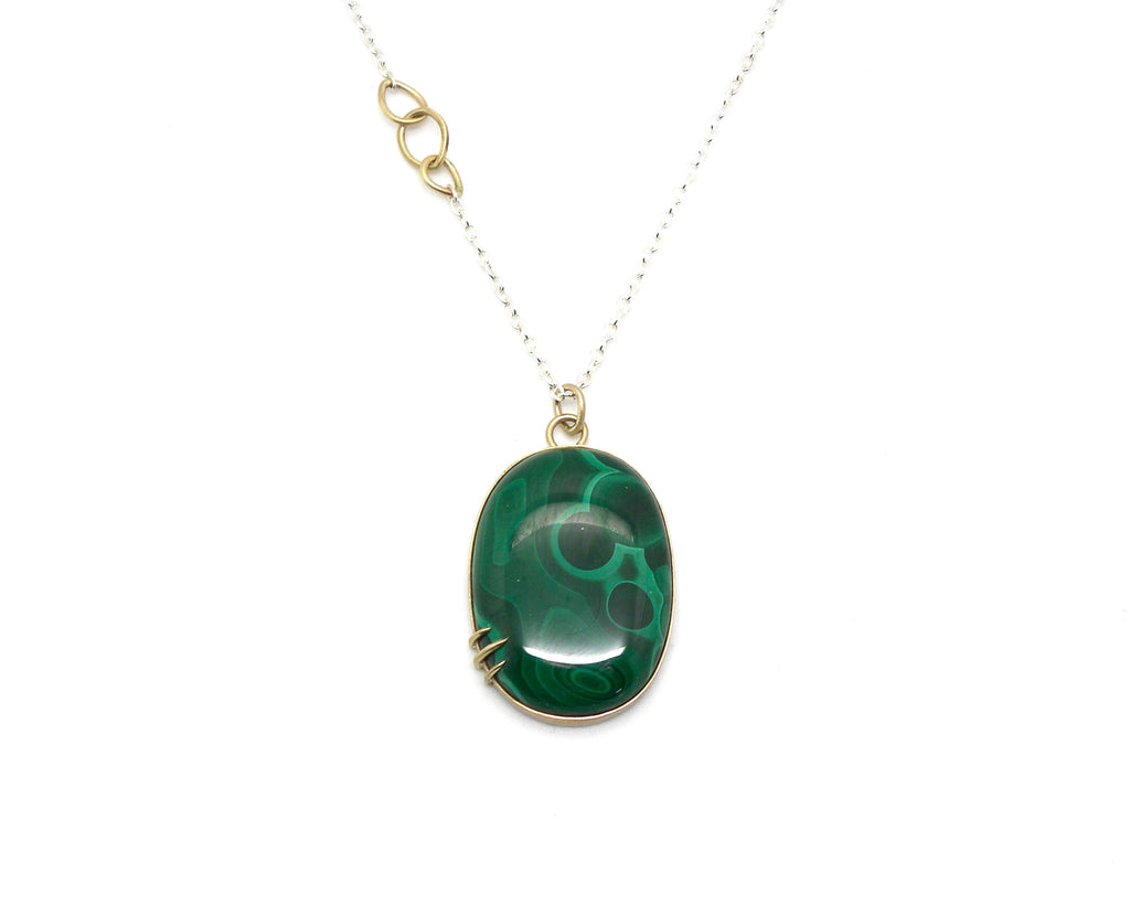 Nebula Malachite Vanity Necklace-Hannah Blount Jewelry