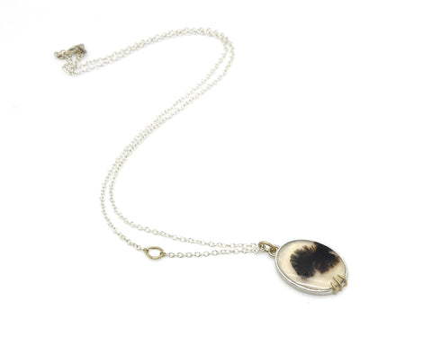 Craquel Dendritic Agate Vanity Necklace-Hannah Blount Jewelry