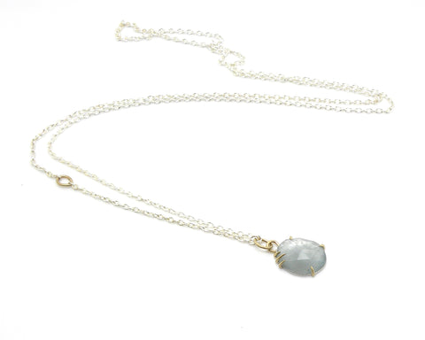 Sunlit Aquamarine Vanity Necklace-Hannah Blount Jewelry