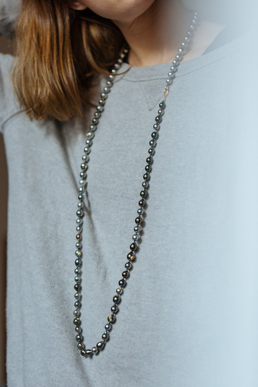 Ombre Tahitian Pearl Ruthie B. Necklace-Hannah Blount Jewelry
