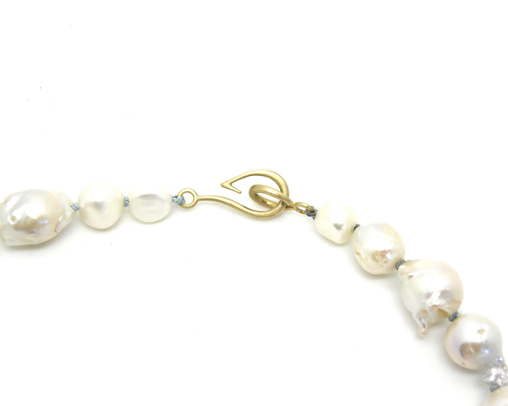 Abstract Freshwater Pearl Ruthie B. Necklace with Barnacles-Hannah Blount Jewelry