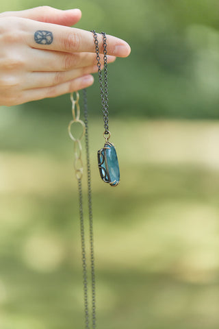 Rusalka Aquamarine Vanity Necklace-Hannah Blount Jewelry
