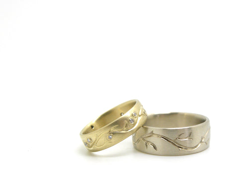 Custom Branch Wedding Bands-Hannah Blount Jewelry