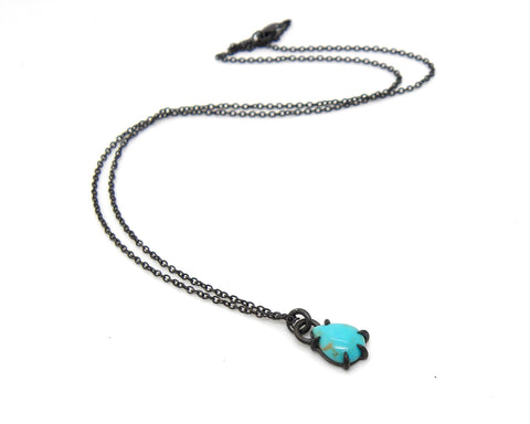 Baltic Sea Kingman Turquoise Vanity Necklace - Hannah Blount Jewelry
