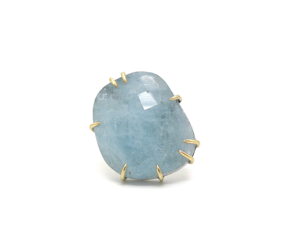 Blue Moon Aquamarine Vanity Ring-Hannah Blount Jewelry
