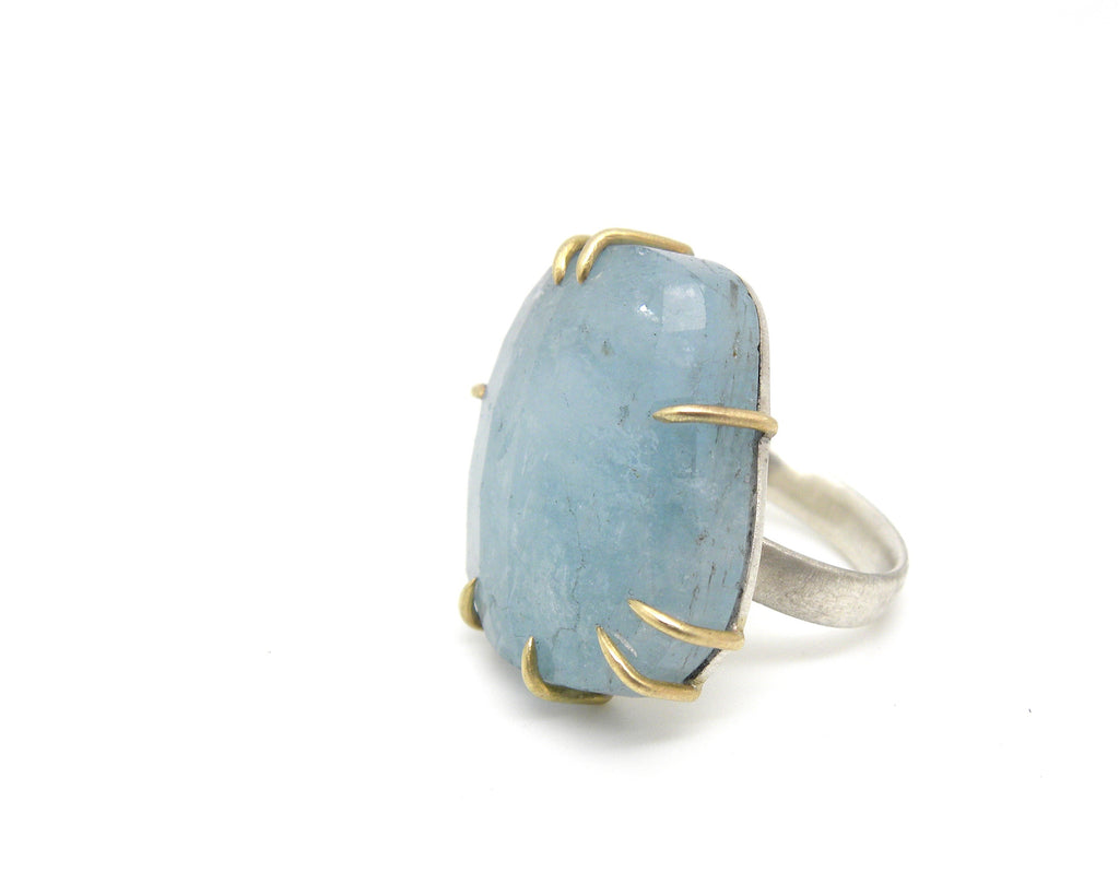 Blue Moon Aquamarine Vanity Ring, 6-Hannah Blount Jewelry