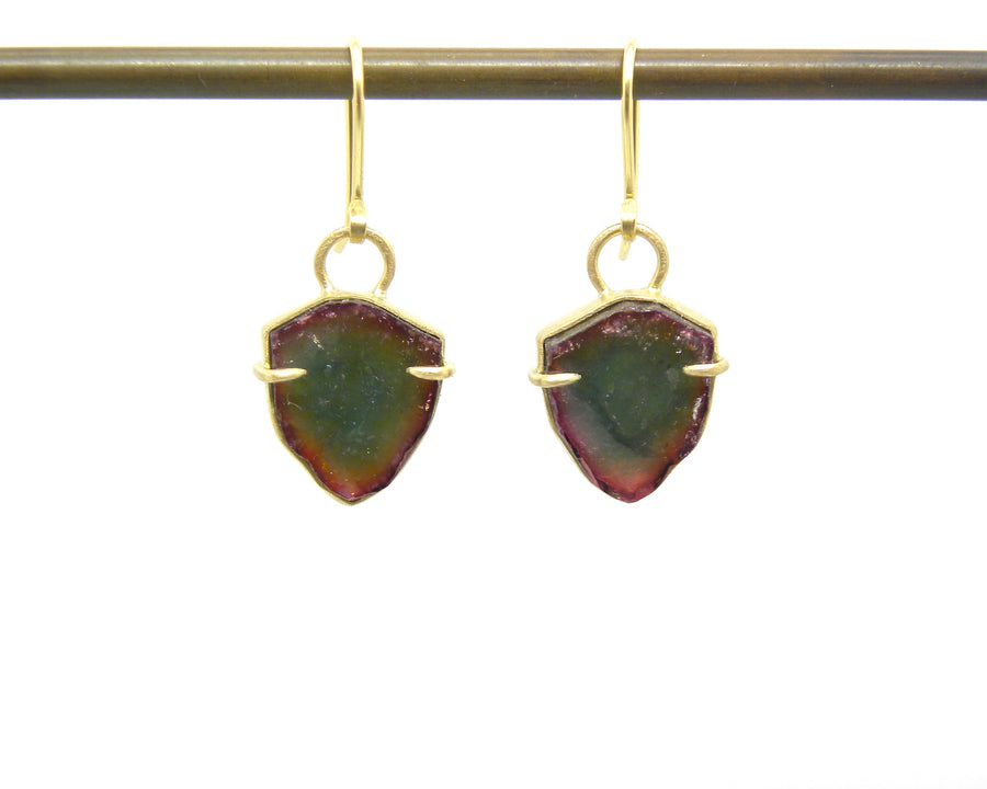Rainbow Tourmaline Vanity Earrings-Hannah Blount Jewelry