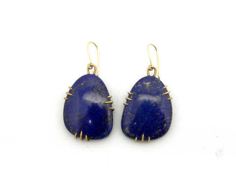 Adonis Blue Lapis Vanity Earrings - Hannah Blount Jewelry
