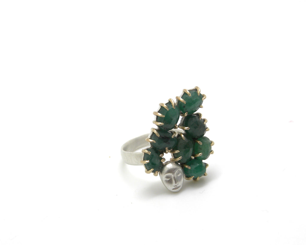 Titania Emerald Lady Vanity Ring, 7-Hannah Blount Jewelry