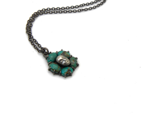 Kingman Turquoise Lioness Cameo Necklace-Hannah Blount Jewelry