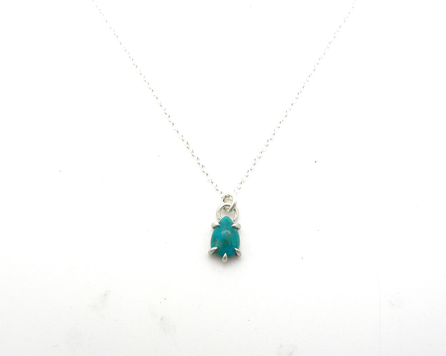 North Sea Kingman Turquoise Vanity Necklace-Hannah Blount Jewelry