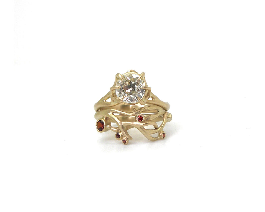 Dew Drop Diamond Branch Waiting Ring-Hannah Blount Jewelry