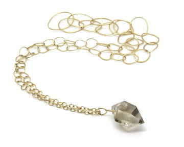 Extra Grand Sticks and Stones Herkimer Diamond Necklace #9-Hannah Blount Jewelry