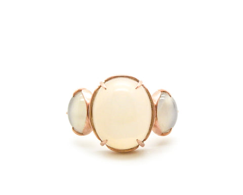 Custom Heirloom Moonstone Ring-Hannah Blount Jewelry