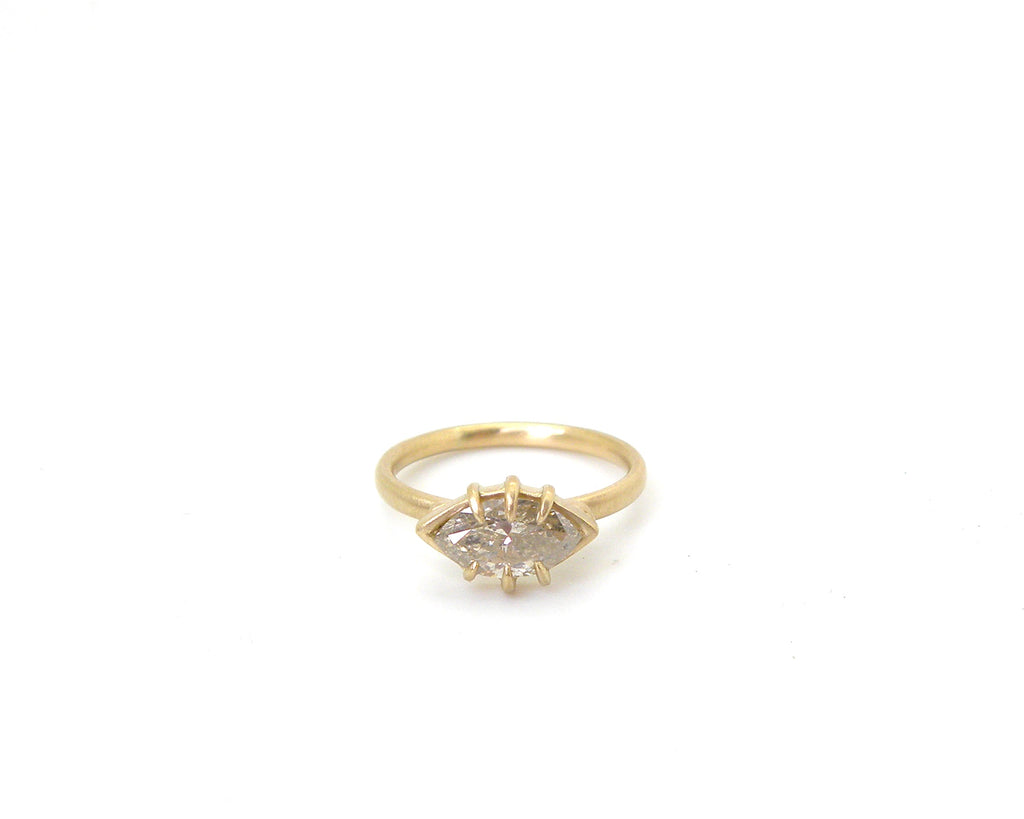 Salt + Pepper Diamond Ocular Vanity Ring, 5.5-Hannah Blount Jewelry
