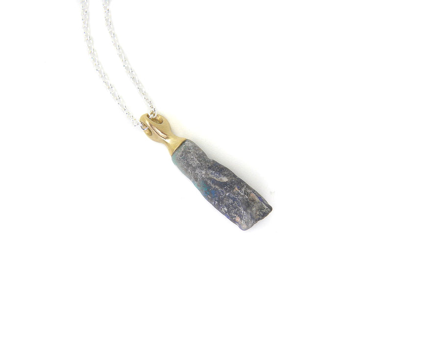 Bellflower Raw Opal Cameo Necklace-Hannah Blount Jewelry