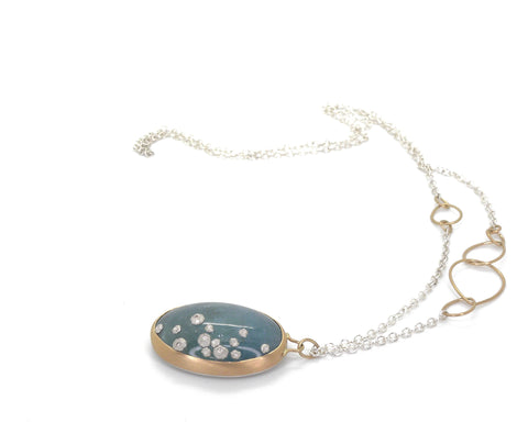 Atlantis Aquamarine Ruthie B. Necklace with Barnacles-Hannah Blount Jewelry