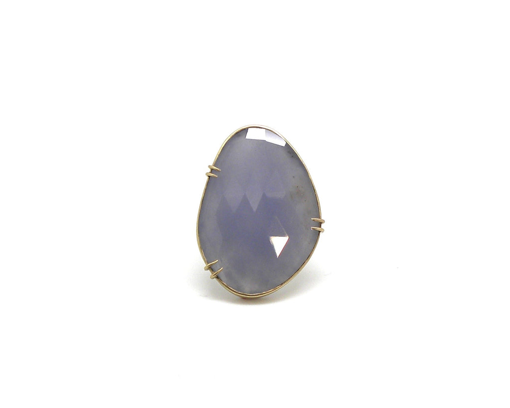 Wilting Lilac Chalcedony Vanity Ring, 8-Hannah Blount Jewelry