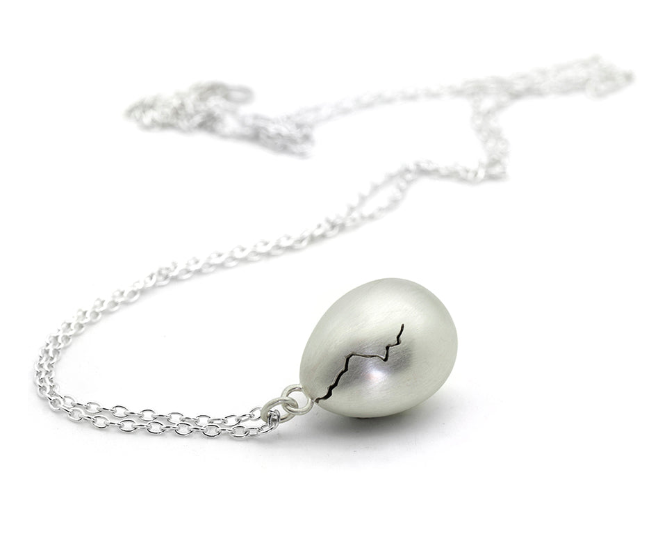 Cracked Egg Necklace-Hannah Blount Jewelry