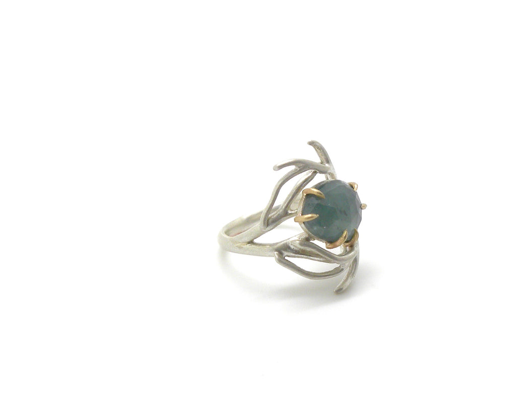Deep Sea Branch Aquamarine Vanity Ring, 6-Hannah Blount Jewelry