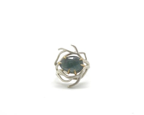 Deep Sea Aquamarine Waiting Ring, 6-Hannah Blount Jewelry