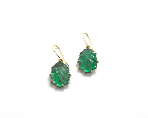 Lemonid Emerald Vanity Earrings-Hannah Blount Jewelry