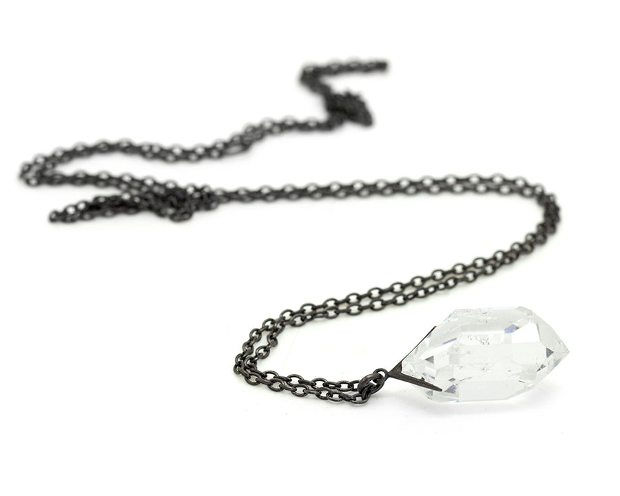 Sticks and Stones Herkimer Diamond Necklace-Hannah Blount Jewelry