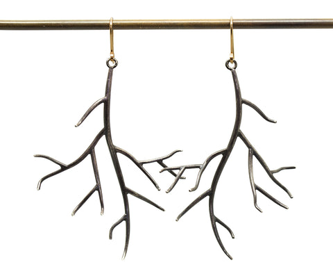 Large Branch Earrings-Hannah Blount Jewelry